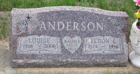 CHRISTENSEN ANDERSON, LOUISE - Turner County, South Dakota | LOUISE CHRISTENSEN ANDERSON - South Dakota Gravestone Photos