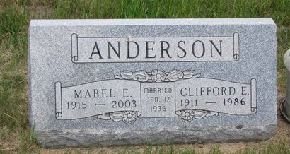 ANDERSON, MABEL E. - Turner County, South Dakota | MABEL E. ANDERSON - South Dakota Gravestone Photos