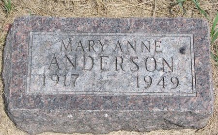 ANDERSON, MARY ANNE - Turner County, South Dakota | MARY ANNE ANDERSON - South Dakota Gravestone Photos