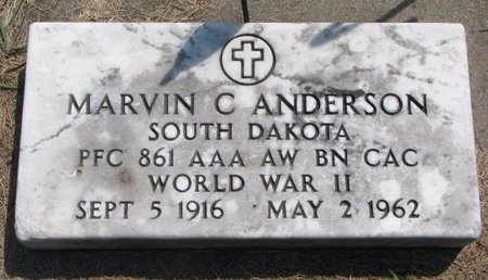 ANDERSON, MARVIN C. - Turner County, South Dakota | MARVIN C. ANDERSON - South Dakota Gravestone Photos
