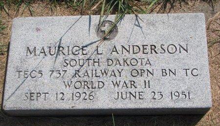 ANDERSON, MAURICE L. - Turner County, South Dakota | MAURICE L. ANDERSON - South Dakota Gravestone Photos