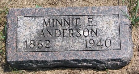 ANDERSON, MINNIE E. - Turner County, South Dakota   MINNIE E. ANDERSON - South Dakota Gravestone Photos