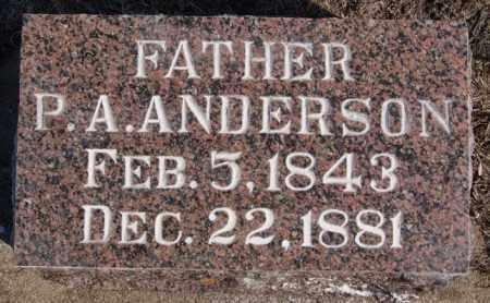 ANDERSON, P A - Turner County, South Dakota | P A ANDERSON - South Dakota Gravestone Photos