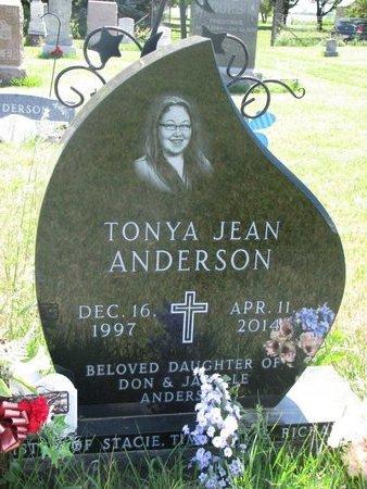 ANDERSON, TONYA JEAN - Turner County, South Dakota | TONYA JEAN ANDERSON - South Dakota Gravestone Photos