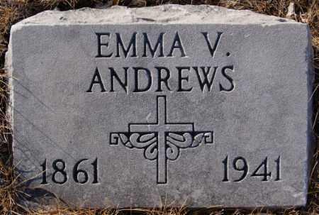 ANDREWS, EMMA V - Turner County, South Dakota | EMMA V ANDREWS - South Dakota Gravestone Photos