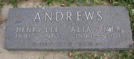 ANDREWS, HENRY LEE - Turner County, South Dakota | HENRY LEE ANDREWS - South Dakota Gravestone Photos
