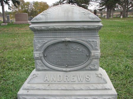 ANDREWS, JOSEPH - Turner County, South Dakota | JOSEPH ANDREWS - South Dakota Gravestone Photos