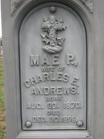 ANDREWS, MAE P. (CLOSE UP) - Turner County, South Dakota | MAE P. (CLOSE UP) ANDREWS - South Dakota Gravestone Photos