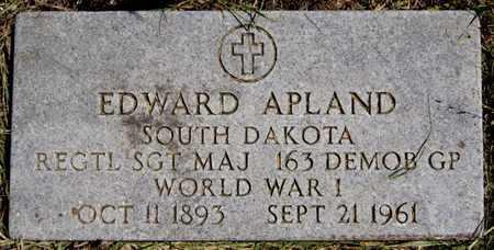 APLAND, EDWARD (WWI) - Turner County, South Dakota   EDWARD (WWI) APLAND - South Dakota Gravestone Photos