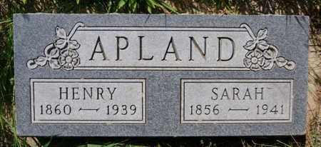APLAND, SARAH - Turner County, South Dakota | SARAH APLAND - South Dakota Gravestone Photos
