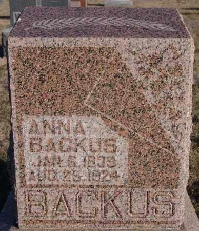 BACKUS, ANNA - Turner County, South Dakota | ANNA BACKUS - South Dakota Gravestone Photos
