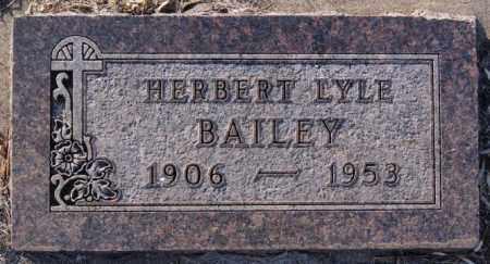 BAILEY, HERBERT LYLE - Turner County, South Dakota | HERBERT LYLE BAILEY - South Dakota Gravestone Photos