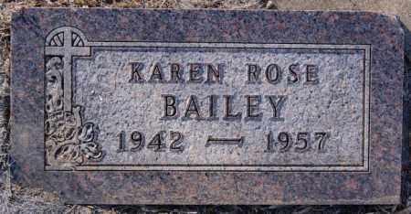 BAILEY, KAREN ROSE - Turner County, South Dakota | KAREN ROSE BAILEY - South Dakota Gravestone Photos
