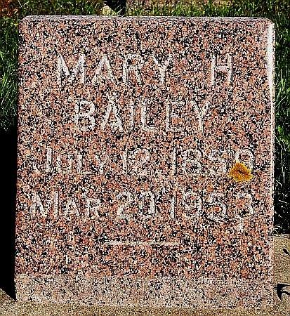 BAILEY, MARY H - Turner County, South Dakota   MARY H BAILEY - South Dakota Gravestone Photos