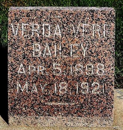 BAILEY, VERDA VERE - Turner County, South Dakota | VERDA VERE BAILEY - South Dakota Gravestone Photos