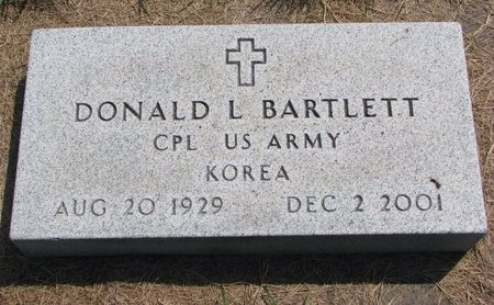 BARTLETT, DONALD L. - Turner County, South Dakota | DONALD L. BARTLETT - South Dakota Gravestone Photos