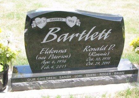 PETERSON BARTLETT, ELDONNA - Turner County, South Dakota | ELDONNA PETERSON BARTLETT - South Dakota Gravestone Photos