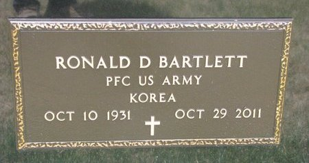 BARTLETT, RONALD D. (MILITARY) - Turner County, South Dakota | RONALD D. (MILITARY) BARTLETT - South Dakota Gravestone Photos