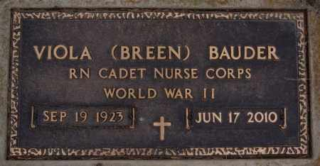 BAUDER, VIOLA (WWII) - Turner County, South Dakota | VIOLA (WWII) BAUDER - South Dakota Gravestone Photos