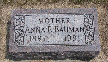 BAUMAN, ANNA E. - Turner County, South Dakota   ANNA E. BAUMAN - South Dakota Gravestone Photos