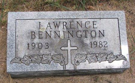 BENNINGTON, LAWRENCE - Turner County, South Dakota | LAWRENCE BENNINGTON - South Dakota Gravestone Photos