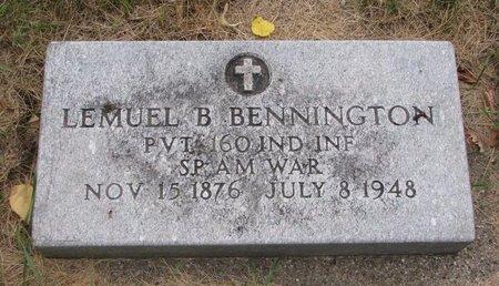 BENNINGTON, LEMUEL B. - Turner County, South Dakota | LEMUEL B. BENNINGTON - South Dakota Gravestone Photos