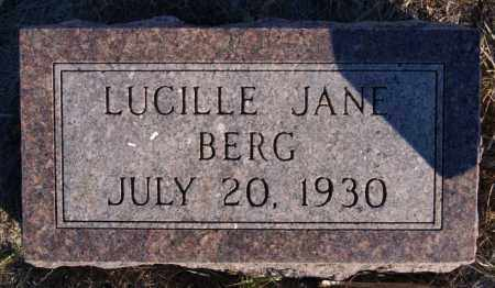 BERG, LUCILLE JANE - Turner County, South Dakota | LUCILLE JANE BERG - South Dakota Gravestone Photos