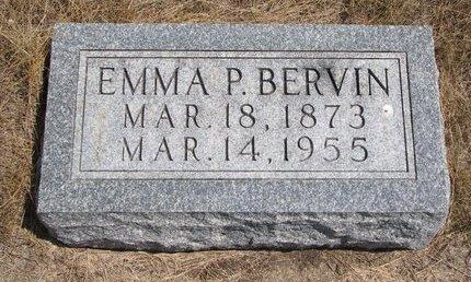 BERVIN, EMMA P. - Turner County, South Dakota | EMMA P. BERVIN - South Dakota Gravestone Photos