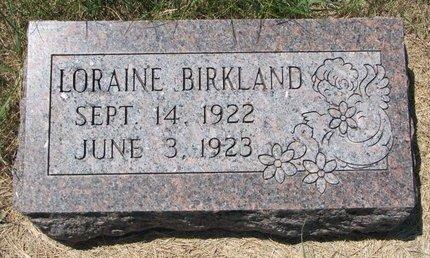 BIRKLAND, LORAINE - Turner County, South Dakota | LORAINE BIRKLAND - South Dakota Gravestone Photos