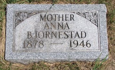 BJORNESTAD, ANNA - Turner County, South Dakota | ANNA BJORNESTAD - South Dakota Gravestone Photos
