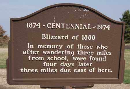 BLIZZARD MEMORIAL, MARKER - Turner County, South Dakota | MARKER BLIZZARD MEMORIAL - South Dakota Gravestone Photos