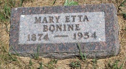 BONINE, MARY ETTA - Turner County, South Dakota | MARY ETTA BONINE - South Dakota Gravestone Photos