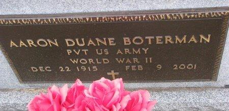 BOTERMAN, AARON DUANE (MILITARY) - Turner County, South Dakota   AARON DUANE (MILITARY) BOTERMAN - South Dakota Gravestone Photos