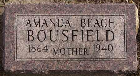 BEACH BOUSFIELD, AMANDA - Turner County, South Dakota | AMANDA BEACH BOUSFIELD - South Dakota Gravestone Photos