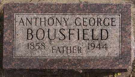 BOUSFIELD, ANTHONY GEORGE - Turner County, South Dakota | ANTHONY GEORGE BOUSFIELD - South Dakota Gravestone Photos