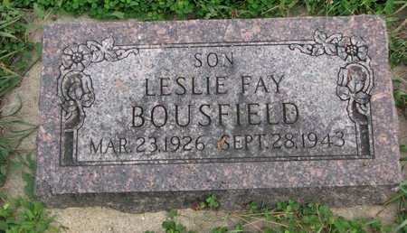 BOUSFIELD, LESLIE FAY - Turner County, South Dakota | LESLIE FAY BOUSFIELD - South Dakota Gravestone Photos