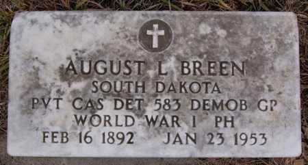 BREEN, AUGUST L (WWI) - Turner County, South Dakota | AUGUST L (WWI) BREEN - South Dakota Gravestone Photos