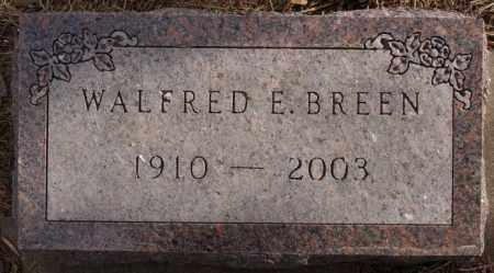 BREEN, WALFRED E - Turner County, South Dakota   WALFRED E BREEN - South Dakota Gravestone Photos