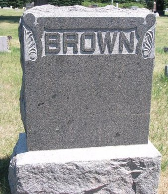 BROWN, *FAMILY MONUMENT - Turner County, South Dakota   *FAMILY MONUMENT BROWN - South Dakota Gravestone Photos