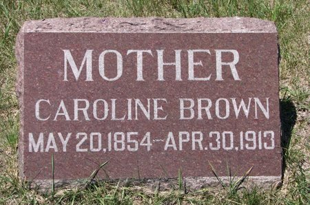 BROWN, CAROLINE - Turner County, South Dakota | CAROLINE BROWN - South Dakota Gravestone Photos