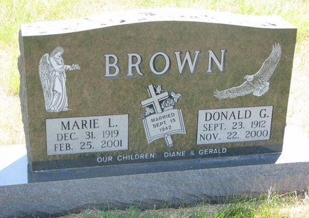 BROWN, MARIE L. - Turner County, South Dakota | MARIE L. BROWN - South Dakota Gravestone Photos