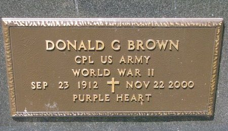 BROWN, DONALD G. (MILITARY) - Turner County, South Dakota | DONALD G. (MILITARY) BROWN - South Dakota Gravestone Photos
