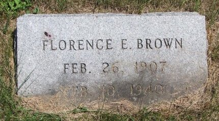 BROWN, FLORENCE E. - Turner County, South Dakota | FLORENCE E. BROWN - South Dakota Gravestone Photos