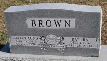 LUND BROWN, LILLIAN - Turner County, South Dakota | LILLIAN LUND BROWN - South Dakota Gravestone Photos