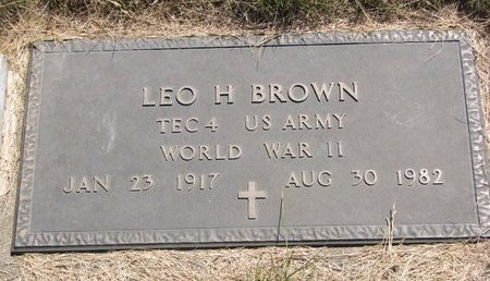 BROWN, LEO H. (MILITARY) - Turner County, South Dakota | LEO H. (MILITARY) BROWN - South Dakota Gravestone Photos