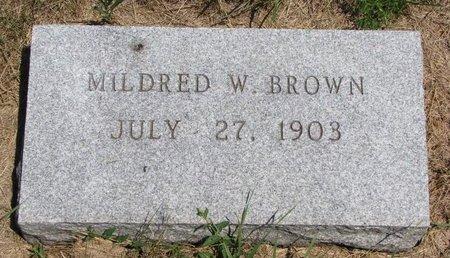 BROWN, MILDRED W. - Turner County, South Dakota | MILDRED W. BROWN - South Dakota Gravestone Photos