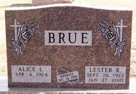 BRUE, LESTER K - Turner County, South Dakota | LESTER K BRUE - South Dakota Gravestone Photos