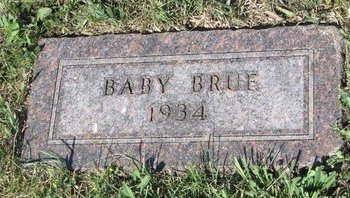 BRUE, BABY - Turner County, South Dakota | BABY BRUE - South Dakota Gravestone Photos