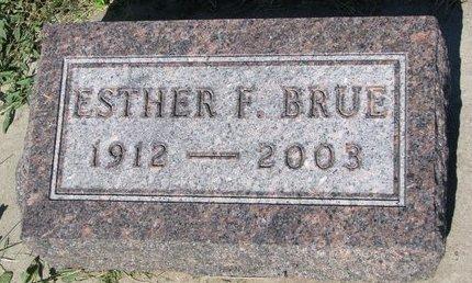 BRUE, ESTHER F. - Turner County, South Dakota | ESTHER F. BRUE - South Dakota Gravestone Photos