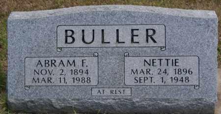 BULLER, NETTIE - Turner County, South Dakota   NETTIE BULLER - South Dakota Gravestone Photos